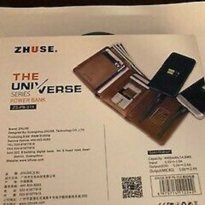 BNWT LEATHER WALLET WITH BUILT-IN POWER BANK